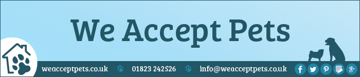 We Accept Pets Plain Banner